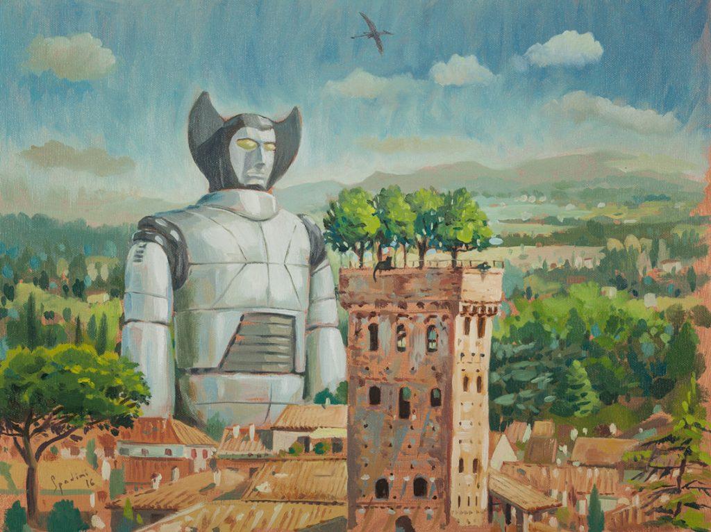 artisti emergenti arte contemporanea da seguire. La pittura del 1800 incontra i robottoni giapponesi